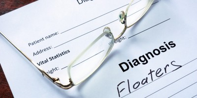Diagnostic Form Indicating Patient Has Been Diagnosed With Eye Floaters